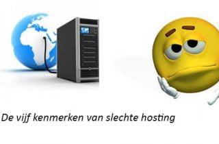 5 kenmerken slechte hosting