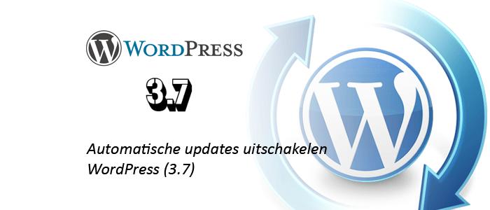 automatische updates uitschakelen wordpress