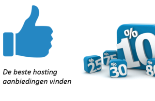 Beste hosting aanbiedingen vinden