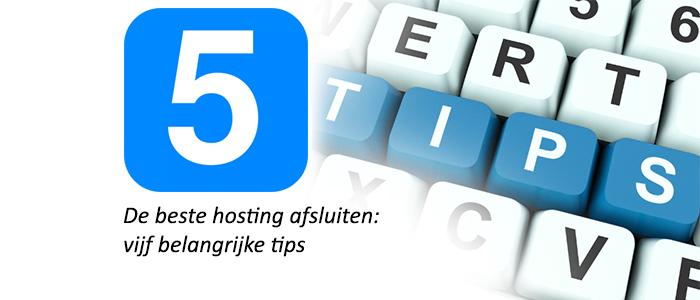 Beste hosting tips