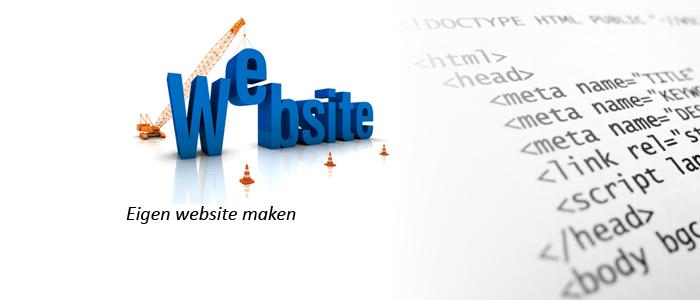 eigen website maken