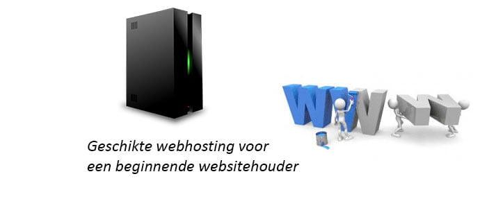 Geschikte webhosting voor een beginnende websitehouder