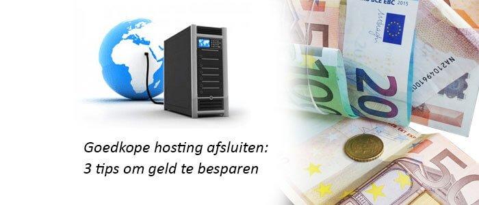 Goedkope hosting afsluiten