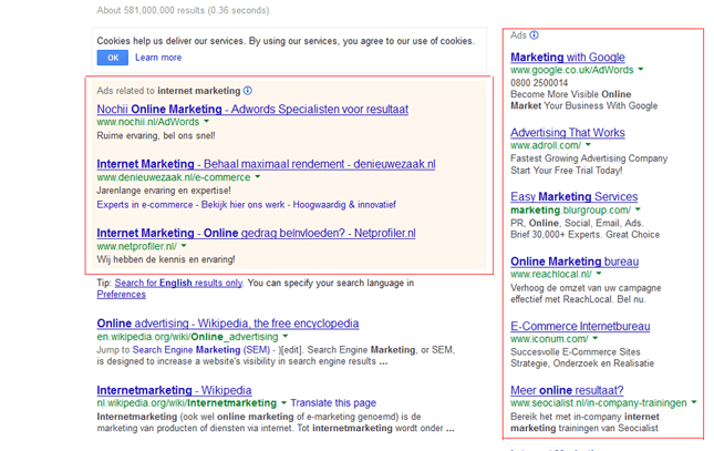 google advertenties