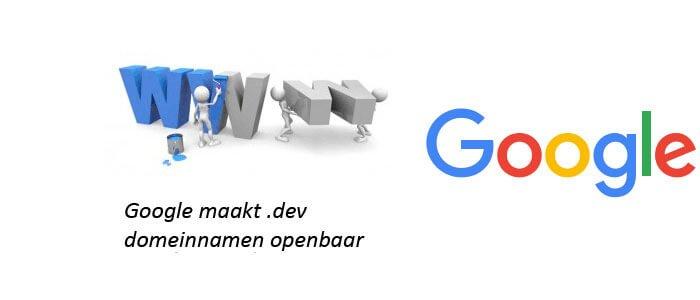 Google maakt .dev domeinnamen openbaar