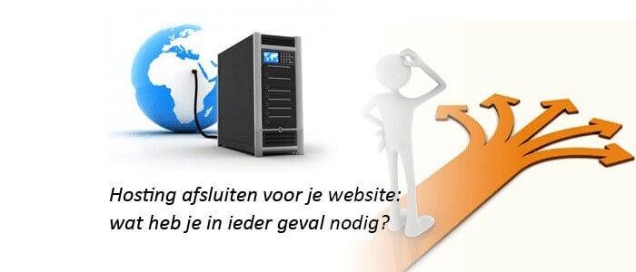 Hosting afsluiten voor je website