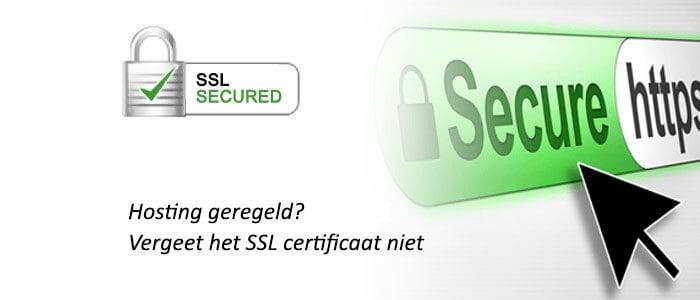 SSL certificaat aanschaffen
