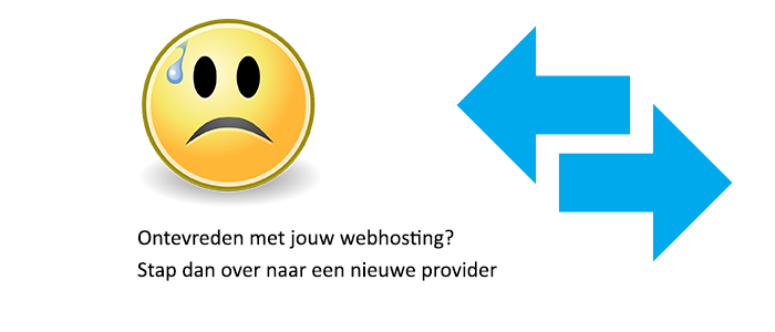 overstappen hosting provider