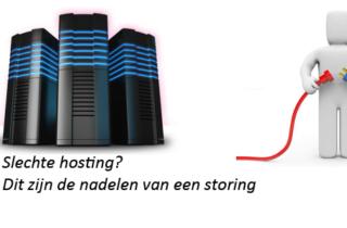 Slechte hosting? Dit zijn de nadelen van een storing