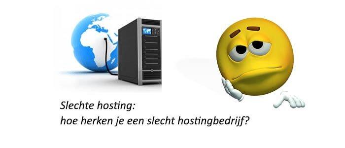 Slechte hosting