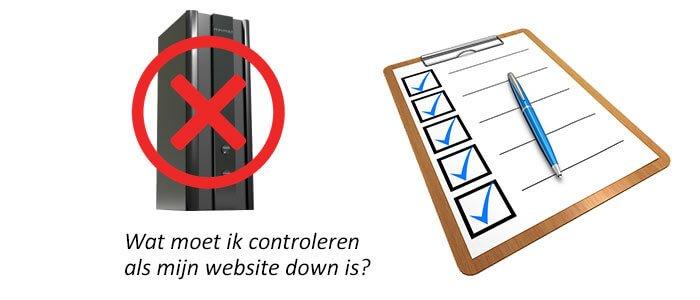 Wat moet ik controleren als mijn website down is?