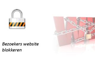 Bezoekers blokkeren