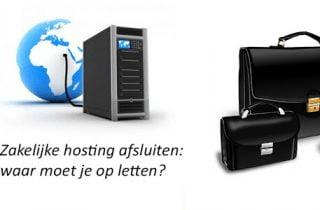 Zakelijke hosting afsluiten